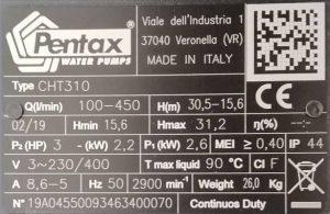 پمپ Pentax اصل ایتالیا