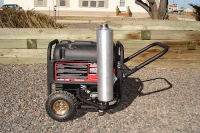 قرار دادن لوله اگزوز موتور برق بصورت عمودی